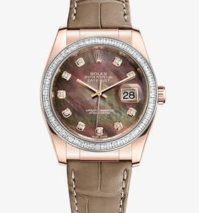 Replica Rolex Datejust 36 mm Watch : 18 kt Everose gold - M11618