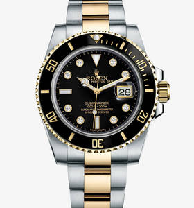 Replica Rolex Submariner Date Watch : Gul Rolesor - kombination