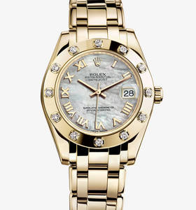 Replica Rolex Datejust Special Edition Watch: 18 ct Gelbgold - M81318 -0005 [0bd3]