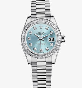 Replica Rolex Lady- Datejust reloj: Platinum - M179136 -0017 [0d4c]