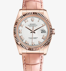 Replica Rolex Datejust 36 mm Watch : 18 ct Everose kultaa - M116