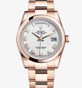 Rolex Day-Date Montre : 18 ct or Everose - M118205F -0053 [db30]