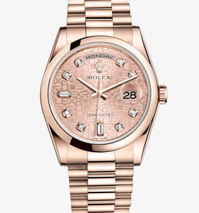 Rolex Day-Date Montre : 18 ct or Everose - M118205F -0004 [ed34]