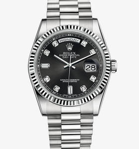 Rolex Day-Date Watch: or blanc 18 ct - M118239 -0089 [ee1a]