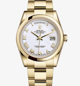 Rolex Day-Date Watch: or jaune 18 carats - M118208 -0087 [0ad4]