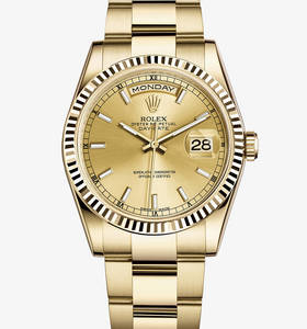 Rolex Day-Date Watch: or jaune 18 carats - M118238 -0110 [118d]