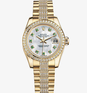 Rolex Lady-Datejust Watch: or jaune 18 carats - M179138 -0102 [3f65]