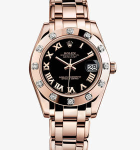 Replica Rolex Datejust Special Edition Watch: 18 ct Everose gold – M81315-0015 [6d37]