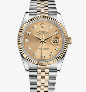 Replica Rolex Datejust Watch: Yellow Rolesor - combination of 904L steel and 18 ct yellow gold – M116233-0150 [c513]