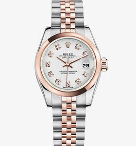 Replica Rolex Lady-Datejust Watch: Everose Rolesor - combination of 904L steel and 18 ct Everose gold – M179161-0033 [2d11]