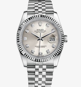 Replica Rolex Datejust 36 mm Watch: White Rolesor - combination of 904L steel and 18 ct white gold – M116234-0084 [8bdc]