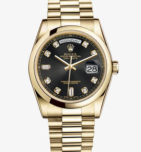 Replica Rolex Day-Date Watch: 18 ct yellow gold – M118208-0118 [7be9]
