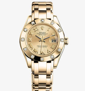 Replica Rolex Lady- Datejust Pearlmaster Watch: oro giallo 18 ct - M80318 - 0060 [8ee4]