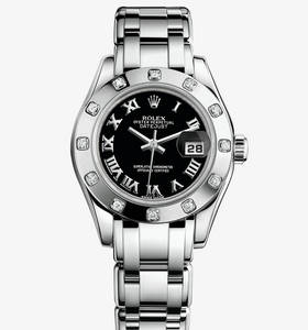 Replica Rolex Lady-Datejust Pearlmaster Watch: 18 ct white gold – M80319-0108 [bbaa]