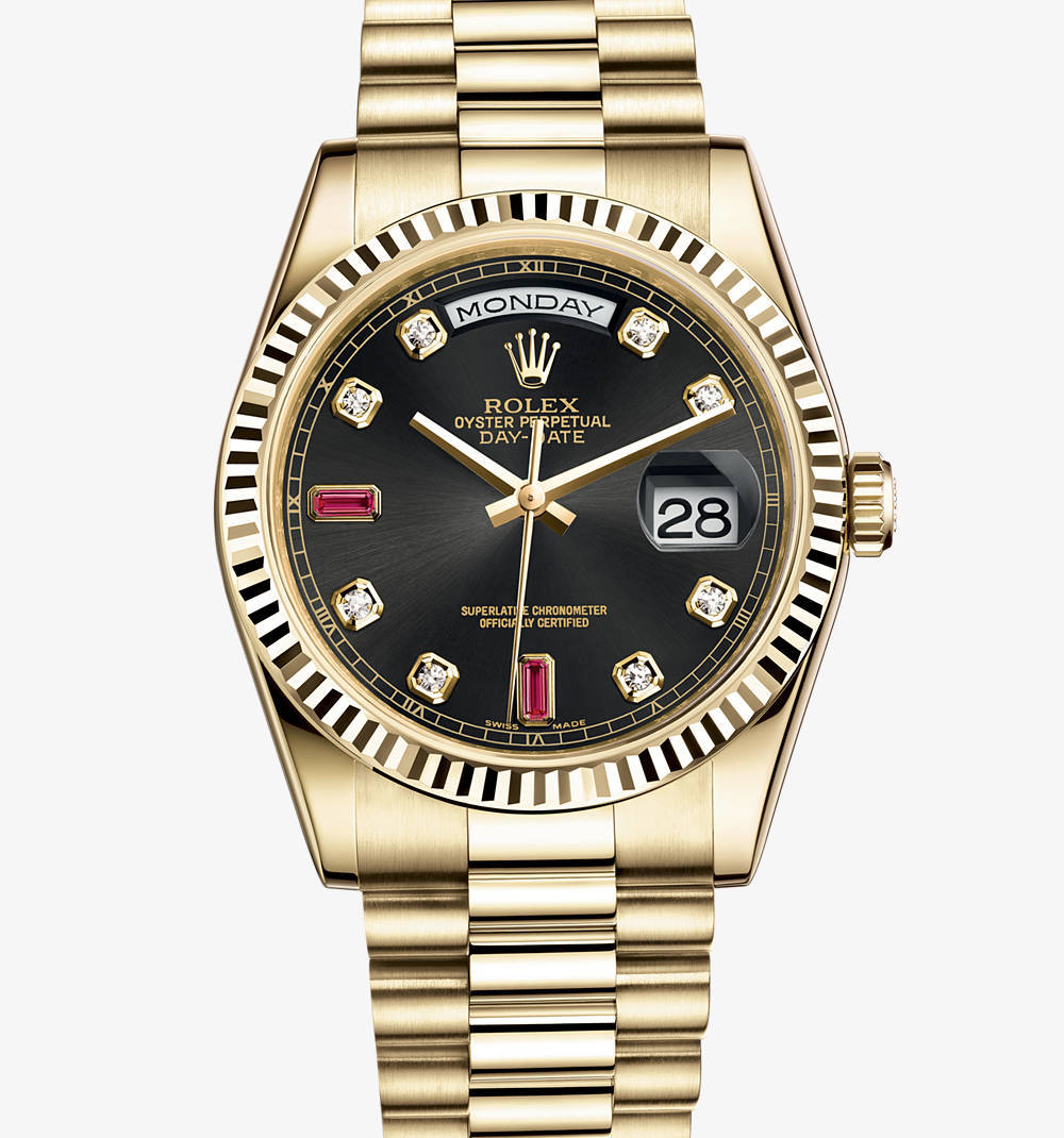 Rolex Day-Date Watch: or jaune 18 carats - M118238 -0394 [ebce]