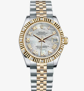 Replica Rolex Datejust Lady 31 Watch : Gul Rolesor - Kombinasjonen av 904L stål og 18 ct gult gull - M178313 -0002 [38cf]