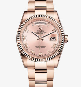 Replica Rolex Day -Date Watch : 18 ct everose gull - M118235F - 0056 [3706]