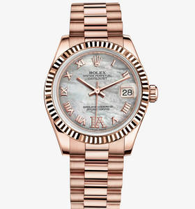 Replica Rolex Datejust Lady 31 Klocka : 18 ct Everose guld - M178275F - 0034 [8f34]