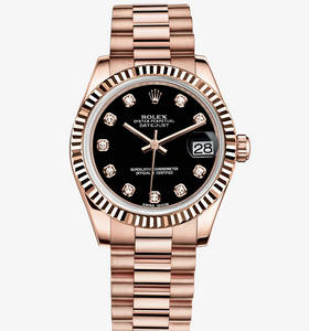 Replica Rolex Datejust Lady 31 Klocka : 18 ct Everose guld - M178275F - 0020 [0e9d]