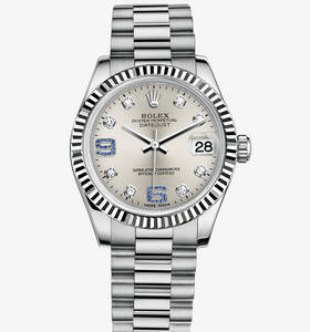 Replica Rolex Datejust Lady 31 Klocka : 18 ct vitguld - M178279 - 0080 [79db]