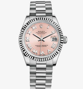 Replica Rolex Datejust Lady 31 Klocka : 18 ct vitguld - M178279 - 0068 [7644]