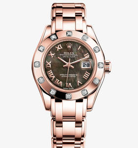 Replica Rolex Lady - Datejust Pearlmaster Watch : 18 ct Everose guld - M80315 - 0023 [dd8a]
